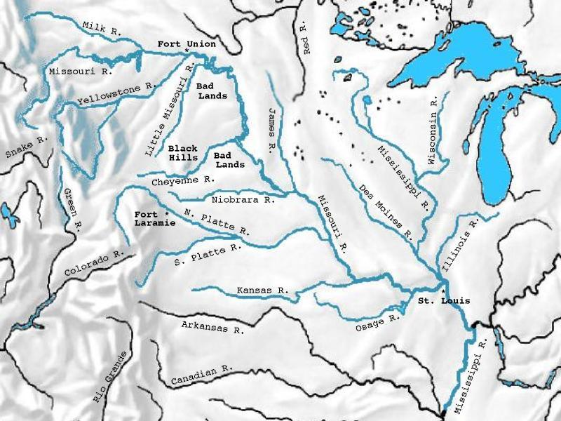 Marker Rivers Of The West Without State Boundaries Jpg - Yellowstone river on us map
